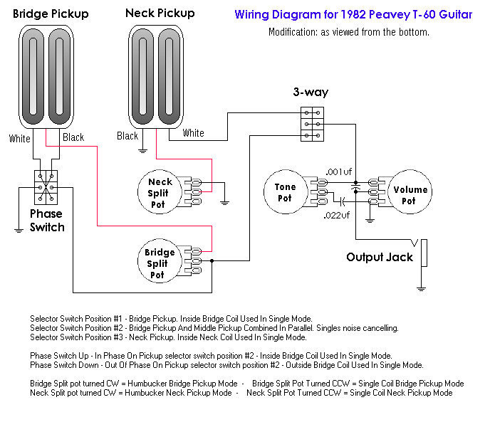 electric guitar pickup wiring diagrams peavey t 60 electric guitar pickup wiring diagrams
